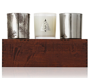 Frasier Fir Limited Edition Candle Trio in Detroit and St. Clair Shores MI, Conner Park Florist