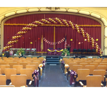Finished Balloon Arch  in Jersey City NJ, Entenmann's Florist