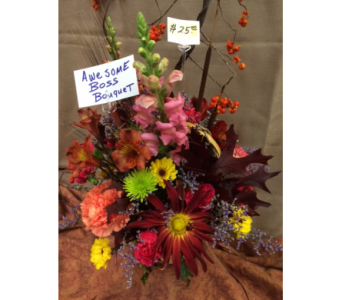 Awesome Boss Bouquet in Freeport IL, Deininger Floral Shop