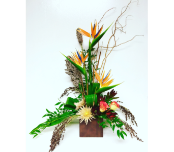 Fall Paradise in 6x6 Bamboo Cube in Wyoming MI, Wyoming Stuyvesant Floral