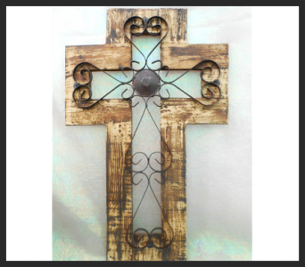 Decorative Wooden Cross in Tyler TX, The Flower Box