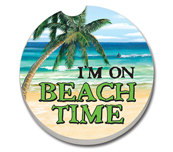 I'm On Beach Time Car Coaster in Bonita Springs FL, Heaven Scent Flowers Inc.