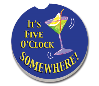It's Five O'Clock Somewhere Coaster in Bonita Springs FL, Heaven Scent Flowers Inc.
