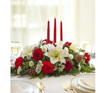 Traditional Christmas Centerpiece in Fairfax VA, Exotica Florist, Inc.