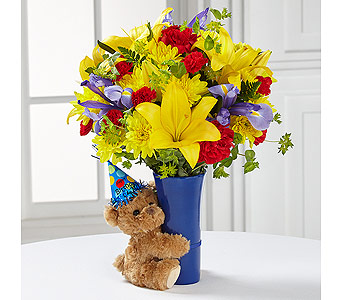 The FTD� Big Hug� Birthday Bouquet in Lewisville TX, D.J. Flowers & Gifts