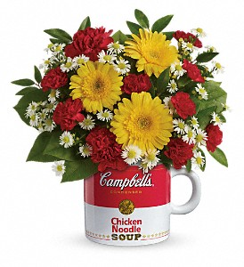 Campbell's Healthy Wishes by Teleflora in Warwick RI, Yard Works Floral, Gift & Garden
