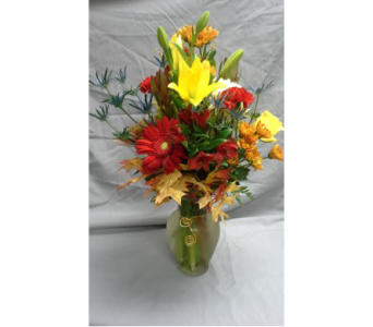 Fun with Fall Vase in Fairless Hills PA, Flowers By Jennie-Lynne
