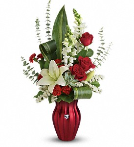 Teleflora's Hearts Aflutter Bouquet in Rockford IL, Crimson Ridge Florist
