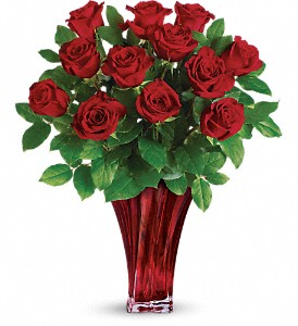 Teleflora's Legendary Love Bouquet in Austintown OH, Crystal Vase Florist