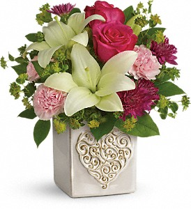 Teleflora's Love To Love You Bouquet in Royersford PA, Three Peas In A Pod Florist