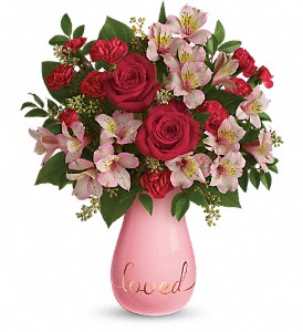 Teleflora's True Lovelies Bouquet in Austintown OH, Crystal Vase Florist
