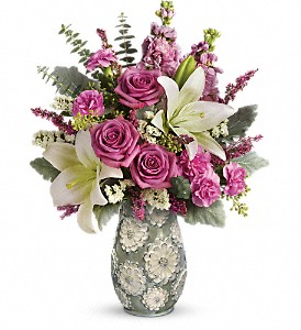 Teleflora's Blooming Spring Bouquet in Jamesburg NJ, Sweet William & Thyme