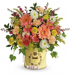 Teleflora's Country Spring Bouquet in Mount Morris MI, June's Floral Company & Fruit Bouquets