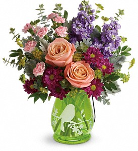 Teleflora's Soaring Spring Bouquet in The Woodlands TX, Rainforest Flowers