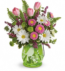 Teleflora's Songs Of Spring Bouquet in Austintown OH, Crystal Vase Florist