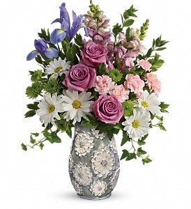 Teleflora's Spring Cheer Bouquet in Austintown OH, Crystal Vase Florist