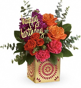 Teleflora's Birthday Sparkle Bouquet in Hallowell ME, Berry & Berry Floral