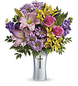 Teleflora's Bright Life Bouquet in Bloomington IL, Forget Me Not Flowers