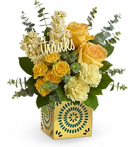 Teleflora's Shimmer Of Thanks Bouquet in El Campo TX, Floral Gardens