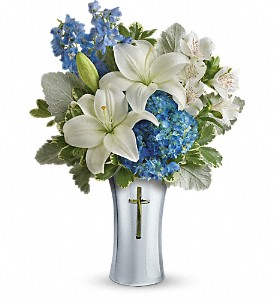 Teleflora's Skies Of Remembrance Bouquet in McHenry IL, Locker's Flowers, Greenhouse & Gifts