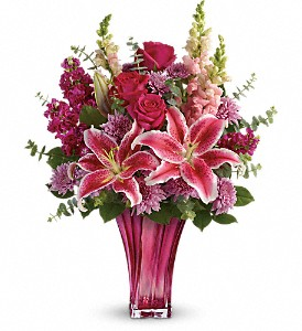 Teleflora's Bold Elegance Bouquet in Plantation FL, Pink Pussycat Flower Shop