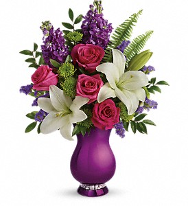 Teleflora's Sparkle And Shine Bouquet in The Woodlands TX, Rainforest Flowers