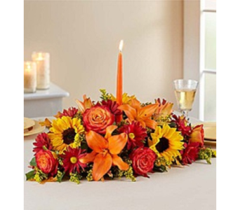 Autumn Shades Fall Centerpiece in Largo FL, Rose Garden Florist