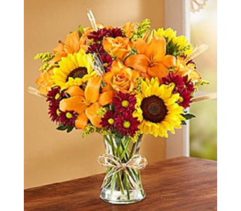 Fields of Europe Fall Vase in Largo FL, Rose Garden Florist
