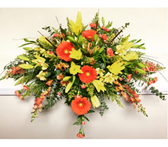 Autumn Splendor Casket Spray with Snapdragons in Wyoming MI, Wyoming Stuyvesant Floral