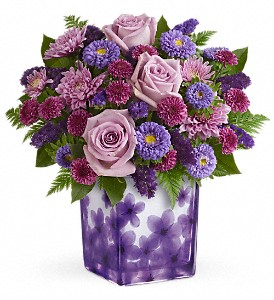 Teleflora's Happy Violets Bouquet in Meridian MS, Saxon's Flowers and Gifts