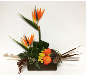 Birds-of-Paradise Seasonal Style in Ceramic in Wyoming MI, Wyoming Stuyvesant Floral