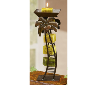 Antique Palm Tree Candle Holder in Bonita Springs FL, Heaven Scent Flowers Inc.