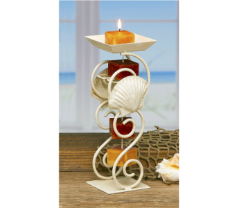 Seashell Candle Holder in Bonita Springs FL, Heaven Scent Flowers Inc.