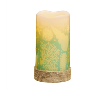 Shell LED Candle in Bonita Springs FL, Heaven Scent Flowers Inc.