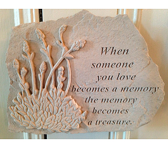 Memory Stone with Lavender Motif in Crafton PA, Sisters Floral Designs