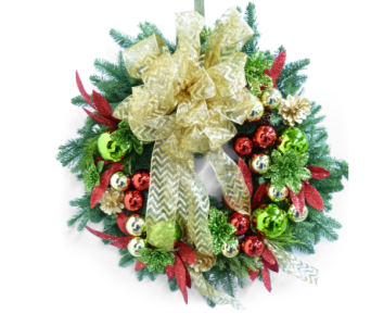 Custom Holiday Wreath in Silver Spring MD, Bell Flowers, Inc