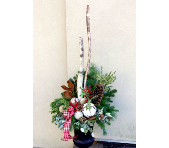 Winter Wonderland Urn Arrangement in Aurora ON, Caruso & Company