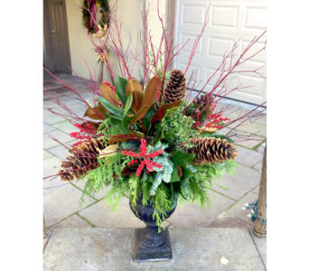 Dogwood Delight Urn Arrangement in Aurora ON, Caruso & Company