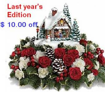 Thomas Kinkade's A Kiss For Santa  in Cornwall ON, Fleuriste Roy Florist, Ltd.
