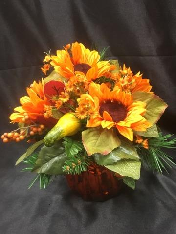 Silk pumpkin arrangment  in Sitka AK, Bev's Flowers & Gifts