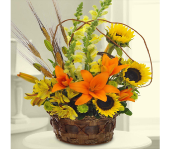 Garden Blooms Autumn Bouquet in Indianapolis IN, George Thomas Florist