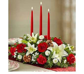 Holiday Traditions Centerpiece in Largo FL, Rose Garden Florist