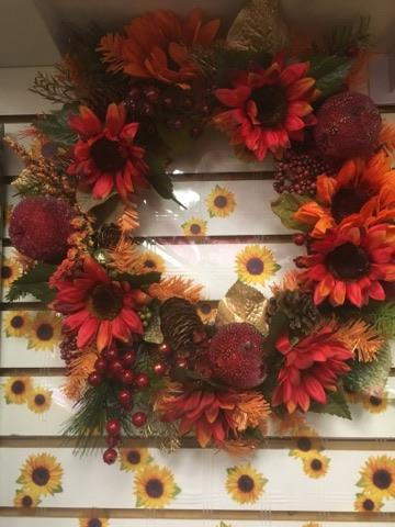 Fall Silk Wreath  in Sitka AK, Bev's Flowers & Gifts