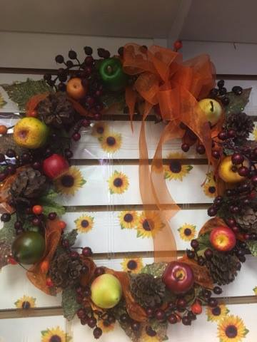 Small Silk Fall Wreath  in Sitka AK, Bev's Flowers & Gifts