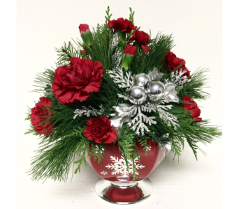 Silver Snowflake Centerpiece - All-Around in Wyoming MI, Wyoming Stuyvesant Floral