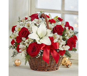 Christmas Cheer Basket in Largo FL, Rose Garden Florist