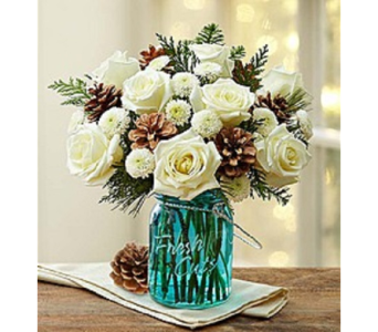 Rose Garden's Snowy Day Bouquet in Largo FL, Rose Garden Florist