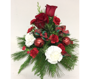 Jingle Bell Christmas Centerpiece - All-Around in Wyoming MI, Wyoming Stuyvesant Floral