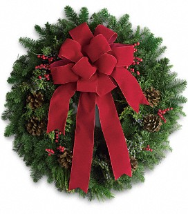 Classic Holiday Wreath in Perrysburg & Toledo OH  OH, Ken's Flower Shops
