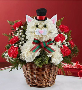Christmas Caroling Cat by 1800flowers in Las Vegas NV, A French Bouquet